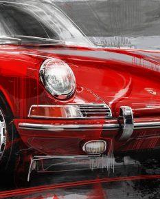 Porsche-911-Red-poster-art