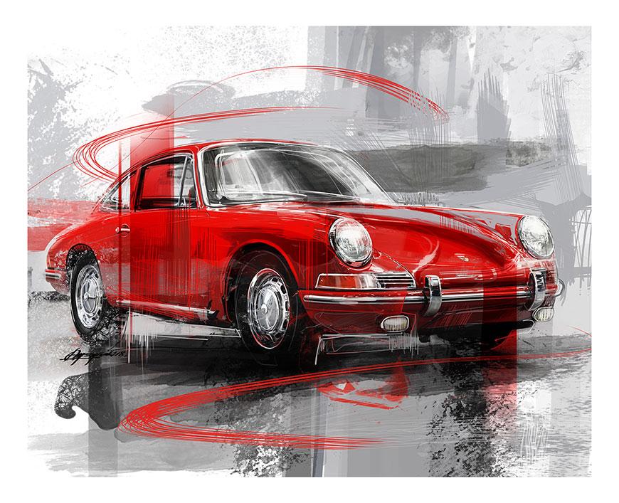 Porsche 911 wall art