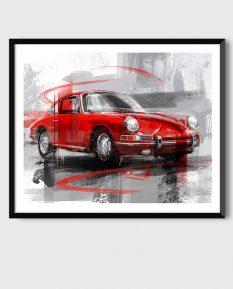 Porsche-911-art_framed