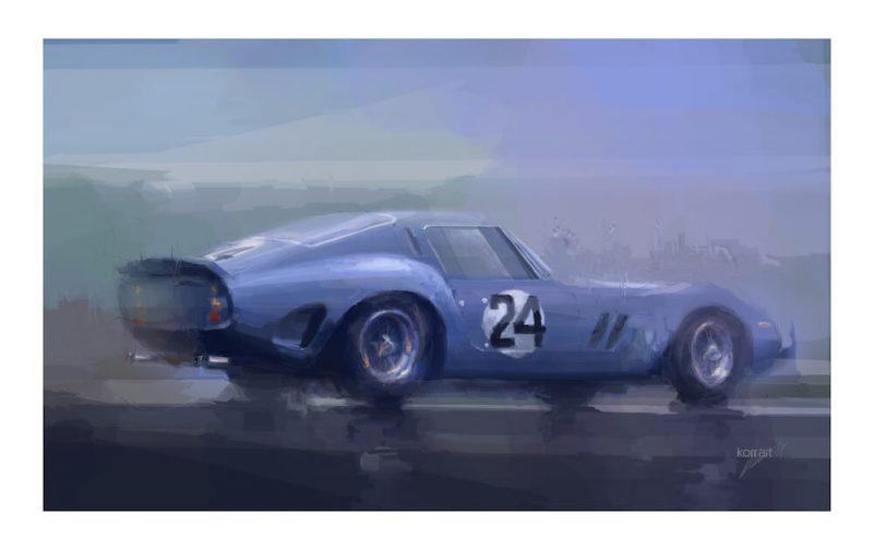 Ferrari-250-gto-blue-artwork