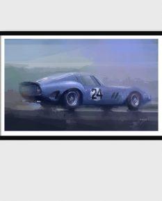 Ferrari-250GTO_Blue_art-poster