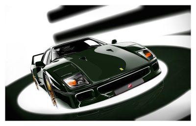 Ferrari F40 art