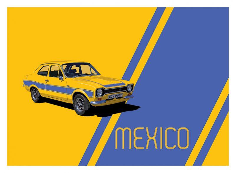 Ford Escort Mexico art