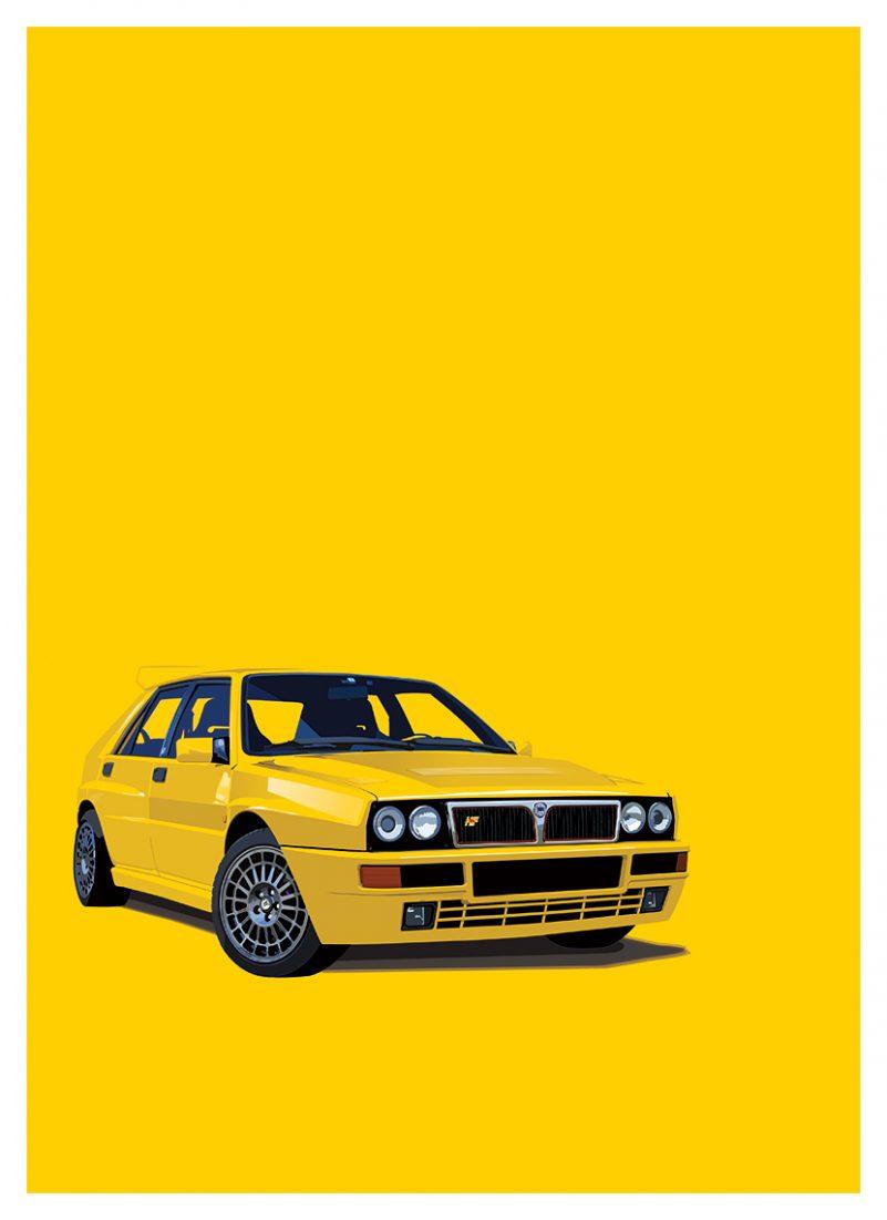 Lancia Delta HF Integrale poster